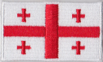 Georgia Embroidered Flag Patch, style 04